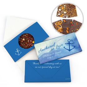 Personalized Wedding Anchored in Love Gourmet Infused Belgian Chocolate Bars (3.5oz)