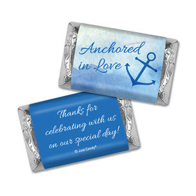 Personalized Wedding Anchored in Love Hershey's Miniatures Wrappers Only