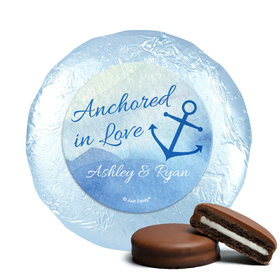 Personalized Wedding Anchored in Love Chocolate Covered Oreos (24 Pack)