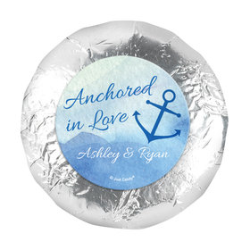 "Personalized Wedding Anchored in Love 1.25"" Stickers (48 Stickers)"