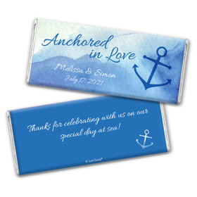 Personalized Wedding Anchored in Love Chocolate Bar & Wrapper