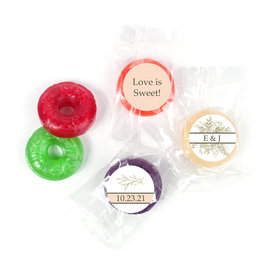 Personalized Wedding Wildflower Bouquet LifeSavers 5 Flavor Hard Candy