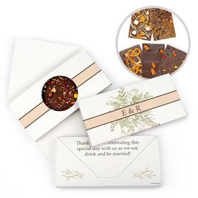 Personalized Wedding Wildflower Bouquet Gourmet Infused Belgian Chocolate Bars (3.5oz)