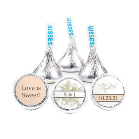Personalized Wedding Wildflower Bouquet Hershey's Kisses (50 pack)
