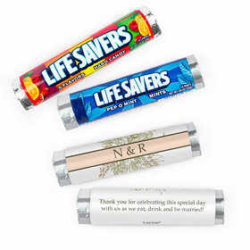 Personalized Wedding Wildflower Bouquet Lifesavers Rolls (20 Rolls)