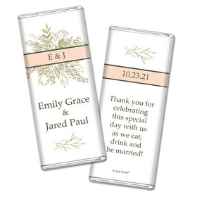 Personalized Wedding Wildflower Bouquet Chocolate Bar Wrappers