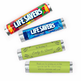 Personalized Wedding Wishes Lifesavers Rolls (20 Rolls)