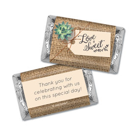 Personalized Wedding Sweet Burlap Hershey's Miniatures Wrappers Only