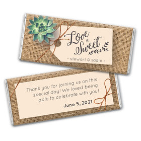 Personalized Wedding Sweet Burlap Chocolate Bar & Wrapper