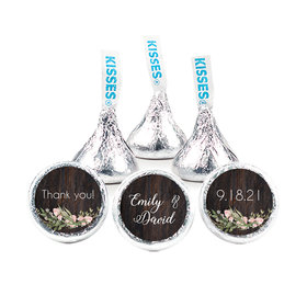 Personalized Wedding Rustic Romance Hershey's Kisses (50 pack)