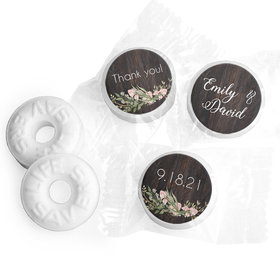 Personalized Wedding Rustic Romance LifeSavers Mints
