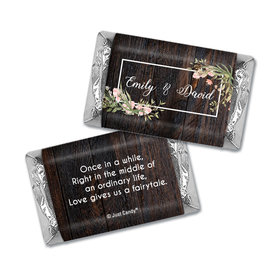 Personalized Wedding Rustic Romance Hershey's Miniatures Wrappers Only
