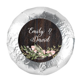 """Personalized Wedding Rustic Romance 1.25"""" Stickers (48 Stickers)"""