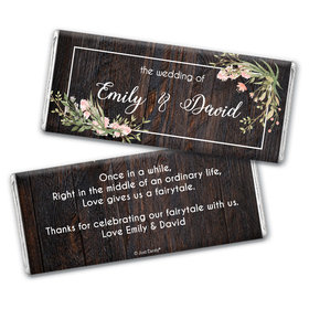 Personalized Wedding Rustic Romance Chocolate Bar & Wrapper