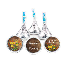 Personalized Wedding Painted Flowers Hershey's Kisses (50 pack)