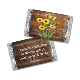 Personalized Wedding Painted Flowers Hershey's Miniatures Wrappers Only