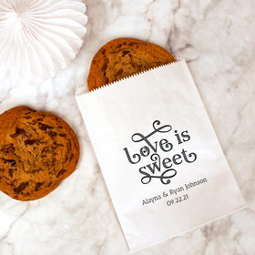 Personalized Wedding Love is Sweet Cookie Bag