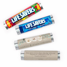 Personalized Wedding Precious Peonies Lifesavers Rolls (20 Rolls)