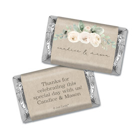 Personalized Wedding Precious Peonies Hershey's Miniatures