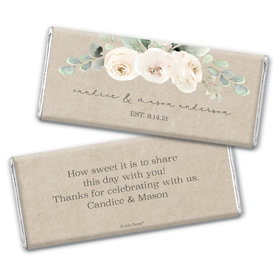Personalized Wedding Precious Peonies Chocolate Bar & Wrapper