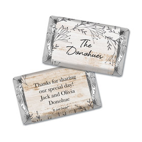 Personalized Wedding Delicate Botanicals Hershey's Miniatures Wrappers Only