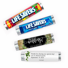 Personalized Wedding Vines of Love Lifesavers Rolls (20 Rolls)