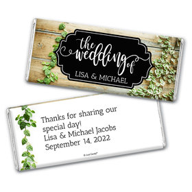 Personalized Wedding Vines of Love Chocolate Bar Wrappers