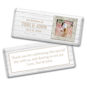 Personalized Wedding Farmhouse Framed Chocolate Bar Wrappers
