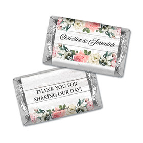 Personalized Wedding Elegant Arrangement Hershey's Miniatures Wrappers Only
