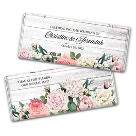 Personalized Wedding Elegant Arrangement Chocolate Bar & Wrapper