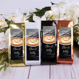 Personalized Wedding Columbian Coffee - Love you Au Lait