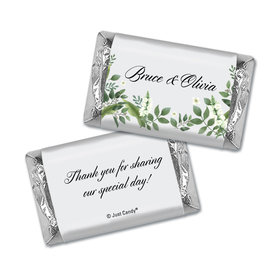 Personalized Wedding Botanical Garden Hershey's Miniatures Wrappers Only