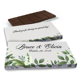 Deluxe Personalized Wedding Botanical Garden Chocolate Bar in Gift Box (3oz Bar)