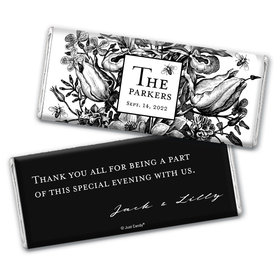 Personalized Wedding Ornamental Botanicals Chocolate Bar Wrappers