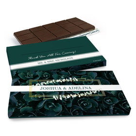 Deluxe Personalized Wedding Enchanting Bloom Chocolate Bar in Gift Box (3oz Bar)
