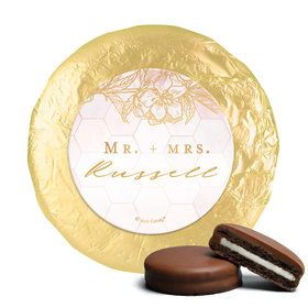 Personalized Wedding Blushing Dream Chocolate Covered Oreos (24 Pack)