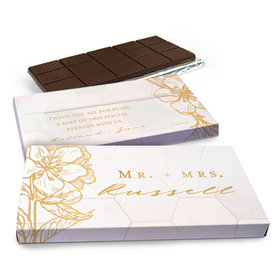 Deluxe Personalized Wedding Blushing Dream Chocolate Bar in Gift Box (3oz Bar)
