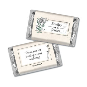 Personalized Wedding Romantic Flora Hershey's Miniatures Wrappers Only
