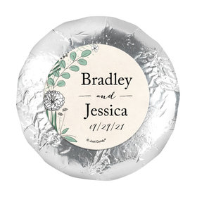 """Personalized Wedding Romantic Flora 1.25"""" Stickers (48 Stickers)"""