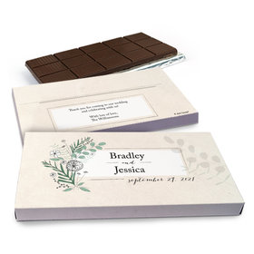 Deluxe Personalized Wedding Romantic Flora Chocolate Bar in Gift Box (3oz Bar)