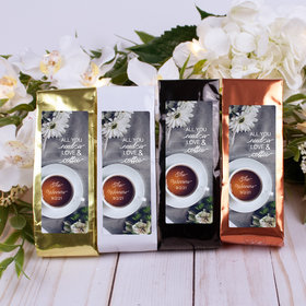 Personalized Wedding Columbian Coffee - All You Need is Love & Coffee