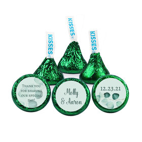 Personalized Wedding Peaceful Eucalyptus Hershey's Kisses (50 pack)