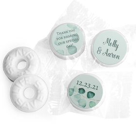 Personalized Wedding Peaceful Eucalyptus Life Savers Mints