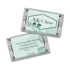 Personalized Wedding Hershey's Miniatures Wrappers Peaceful Eucalyptus