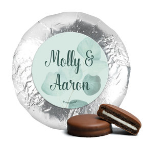 Personalized Wedding Favor Chocolate Covered Oreos Peaceful Eucalyptus (24 Pack)