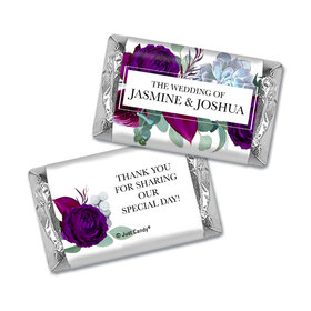 Personalized Wedding Elegant Botanical Hershey's Miniatures Wrappers Only