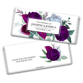 Personalized Wedding Elegant Botanical Chocolate Bar & Wrapper
