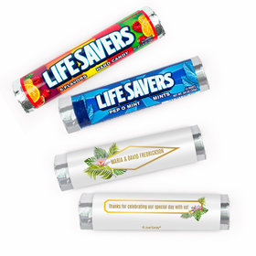 Personalized Wedding Floral Glam Lifesavers Rolls (20 Rolls)