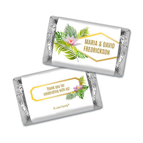 Personalized Wedding Floral Glam Hershey's Miniatures Wrappers Only