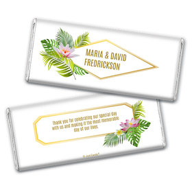 Personalized Wedding Floral Glam Chocolate Bar & Wrapper